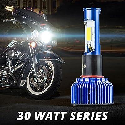 30/38 WATT Motorcycle LED Headlight Conversion Kit H4 Replacement Bulbs For Harley Indian Honda Suzuki Kawasaki Yamaha