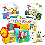 Fisher Price Baby Toddler Beginnings Board Books Super Set (Set of 7 Toddler Books)