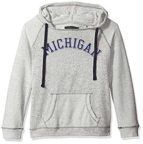 NCAA Michigan Wolverines Women's Reverse Sleeve and Pocket Hoodie, Large, (Wolverines Hoodie)