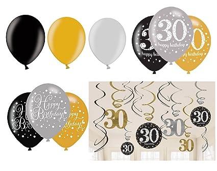 Fija celebran Cumpleaños Decoración para 30 cumpleaños I 12 ...