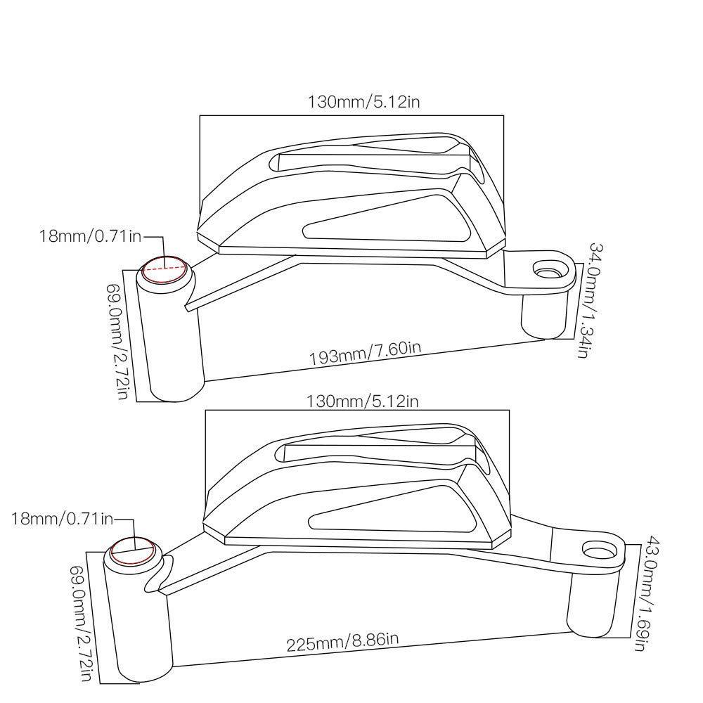 antichute CHUDAN Kawasaki Protecteur daccident Cadre de Pare-Chocs Protection de Bloc d/écoratif de Moto pour Kawasaki Z900