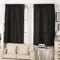 Chinatera Window Treatment Thermal Insulated Blackout Curtains 39.3*86.2-inch (Black)