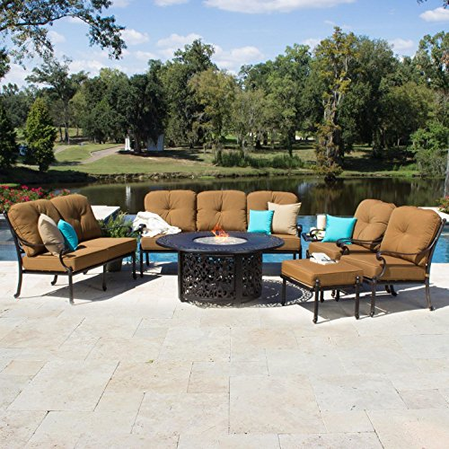 Lakeview Outdoor Designs Evangeline 7 Person Cast Aluminu...