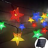 Grezea Solar Star String Lights 21ft 50 LED 8 Modes Solar Powered Twinkle String Lights for Outdoor Ambiance Garden…