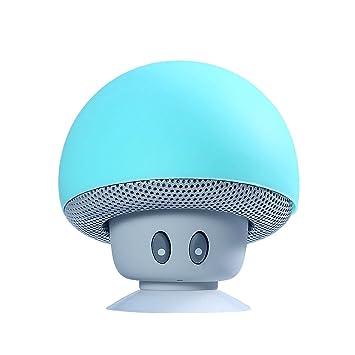 Setas Mini Altavoces, YOSASO Altavoz inalámbrico Bluetooth para Smartphone Ventosa para el baño Teléfono Teléfono