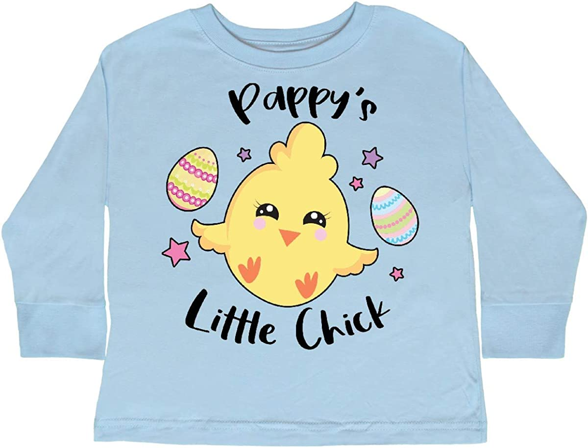 inktastic Happy Easter Pappys Little Chick Toddler Long Sleeve T-Shirt