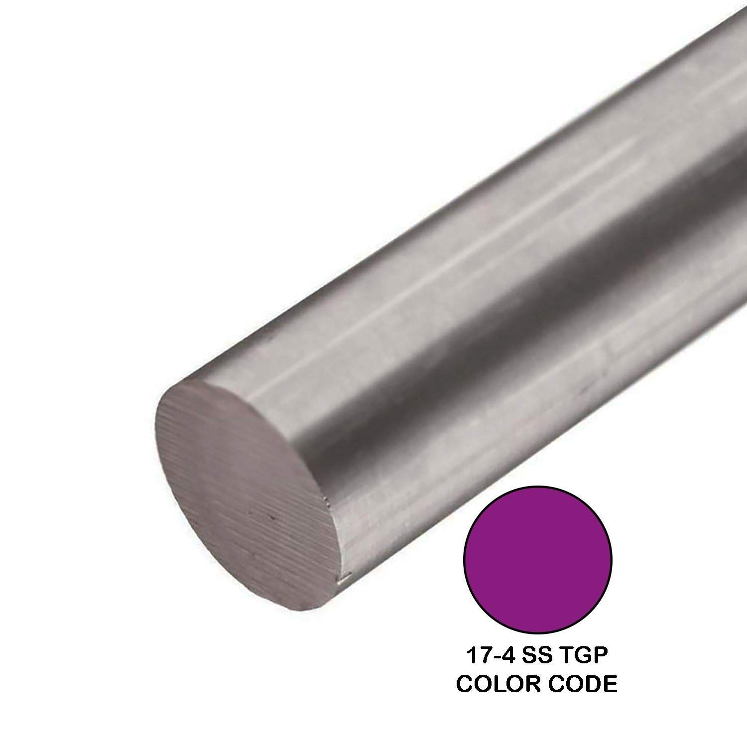 Online Metal Supply 17-4 TGP Stainless Steel Round Rod, 0.500 (1/2 inch) x 48 inches by Online Metal Supply