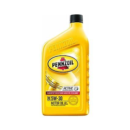 Aceite de motor, 5 W30 Pennzoil aceite de motor: Amazon.es ...