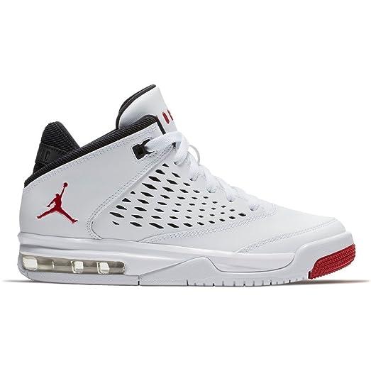 Jordan Flight Origin 4 White/Gym Red-Black (Big Kid) (4.5