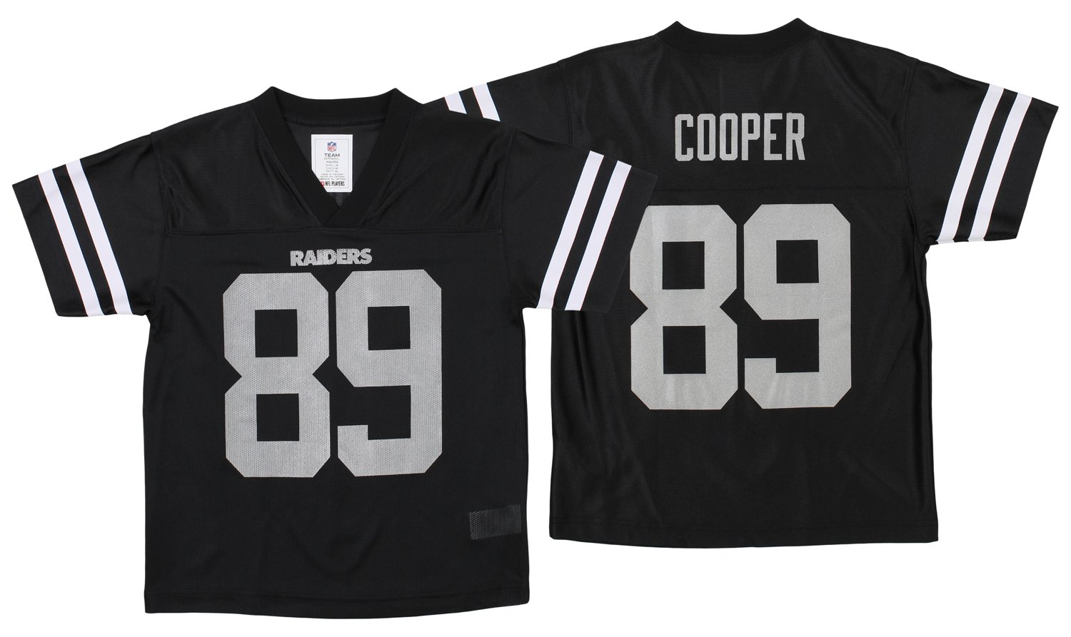 Outerstuff NFL Youth Oakland Raiders Amari Cooper # 89 Player Jersey、ブラック Large (14-16)  B07DTXD5RC