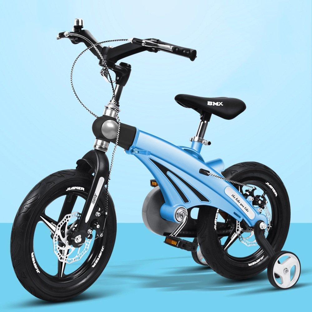HAIZHEN マウンテンバイク 伸縮自在の子供用自転車ベビーカー12/14/16インチ子供用自転車サイクリングマウンテンバイク伸縮式フレーム折りたたみ式ハンドルバーシート/ハンドルの高さ調節可能 新生児 B00ZK23BLI 14 inch|青 青 14 inch