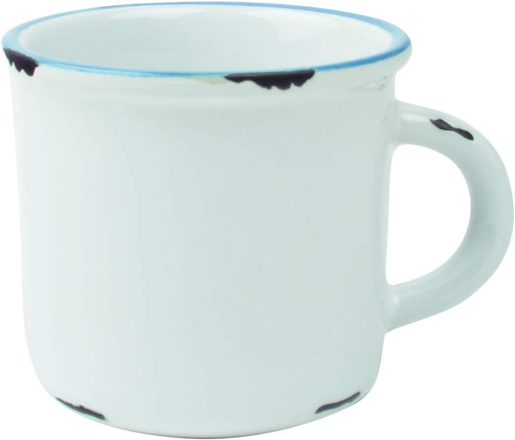 Canvas Home Tinware Espresso Mug, White- Pack of 4
