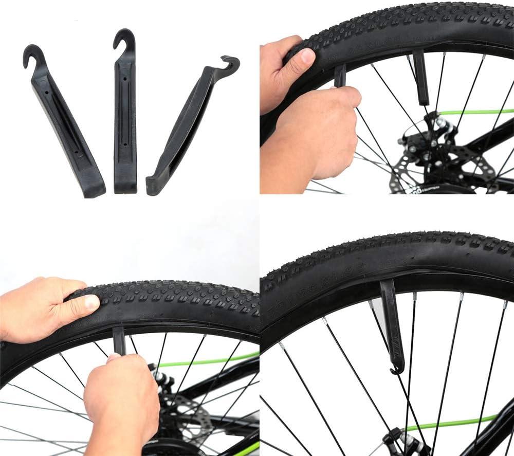 Bike Bicycle Flat Tire Repair Kit Tool Set Kit Patch Rubber Portable Fetal TB