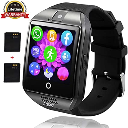 Smart Watch Touch Screen Bluetooth Smart Watch Smartwatch Phone Fitness Tracker SIM SD Card Slot Camera Pedometer Sports Watch Compatible with iPhone ...