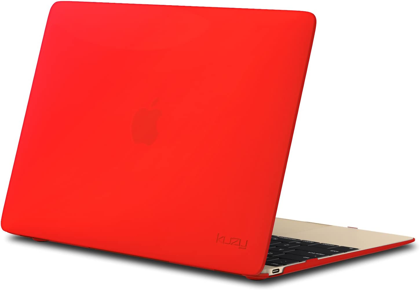 Kuzy MacBook 12 inch Case, Retina Display Model A1534 New 2018 2017 2016 2015 Soft Touch Hard Case Shell Cover - Red