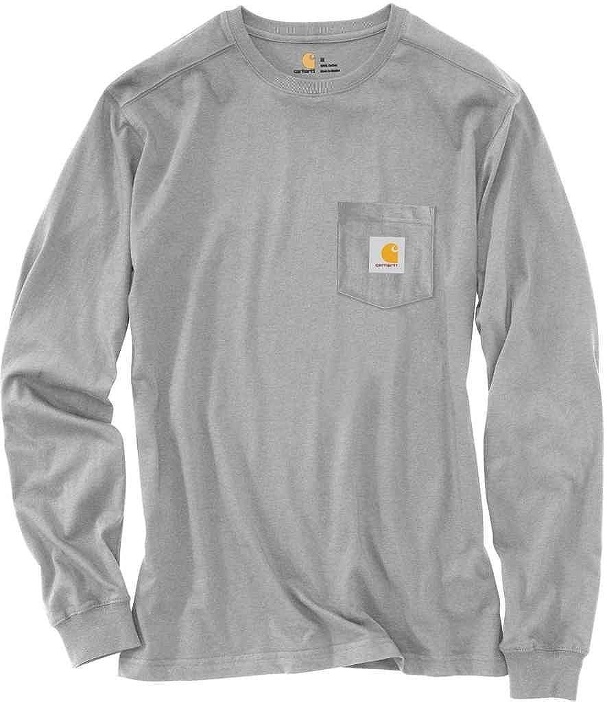 fb46589ffdd8 Amazon.com: Carhartt Men's 101768 Maddock Graphic Hunted Long Sleeve T-Shirt  - Large Regular - Heather Gray: Clothing
