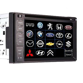 Universal 2 Din 15,75 cm Radio de coche reproductor de DVD ...