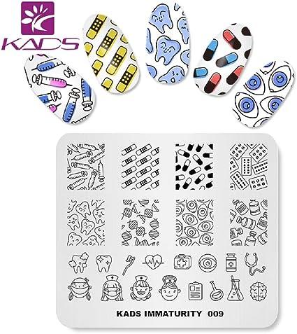 Kads Leuke Nagel Stempelen Plaat Sjabloon Afbeelding Ontwerp Platen Voor Nagel Art Decoratie En Diy Nagel Art Amazon Nl