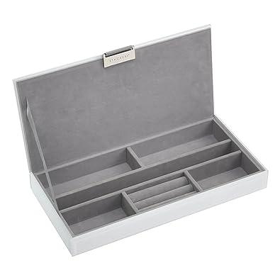a477ae45f391 STACKERS - White Glass Sleek Lidded Stacker Jewellery Box: Amazon.co.uk:  Jewellery