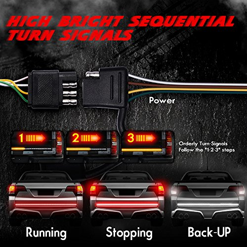 MICTUNING-4-Way-Flat-Y-Splitter-Plug-Play-Adapter-Extension-Harness-and-LED-Tailgate-Light-Bar