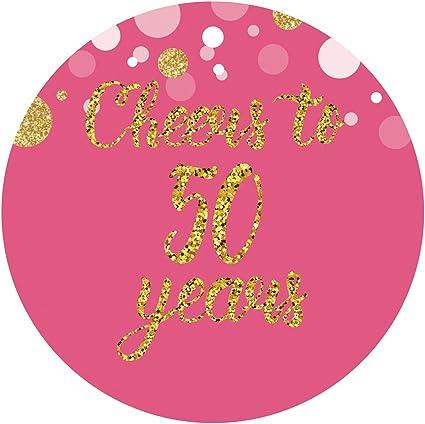 Amazon.com: magjuche rosa 50th cumpleaños o aniversario ...