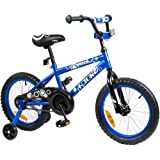 Tauki Kid Bike BMX Bike for Boys and Girls, 12 Inch, 16 Inch, 95% assembled, Gift for kids