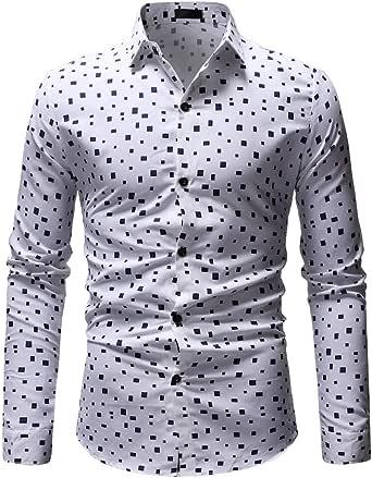 JUTOO 2019 Hombre con Flor Rota Digital LStylish Camisa de Manga Larga: Amazon.es: Ropa y accesorios
