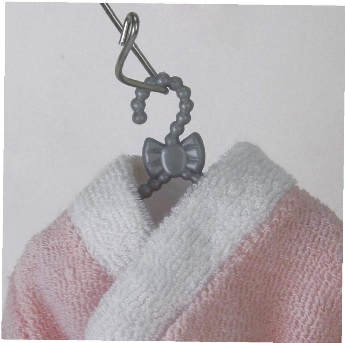 ZCHD 12pcs Pl/ástico Gris Mini Perchas De Ropa para Mu/ñecas 11.5 En Girl Outfit Use Perchas