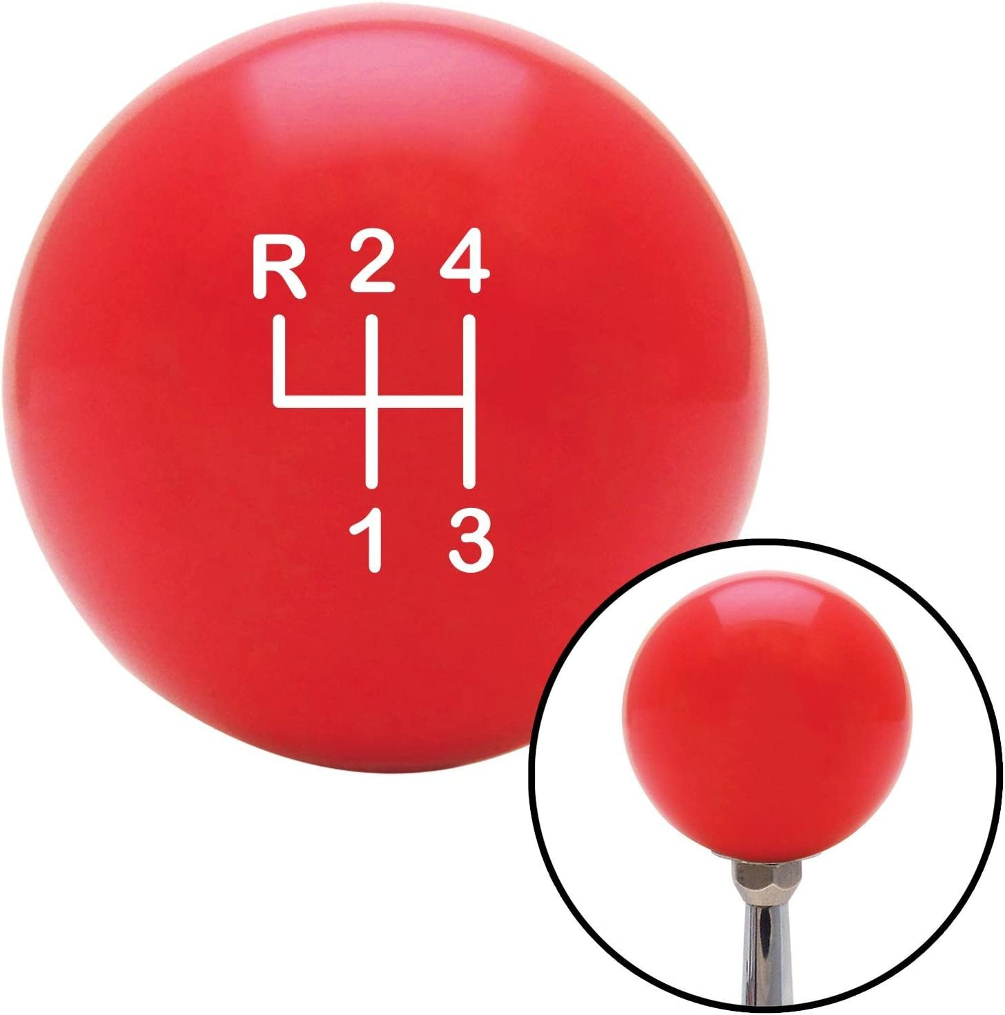White Shift Pattern 8n American Shifter 100462 Red Shift Knob with M16 x 1.5 Insert