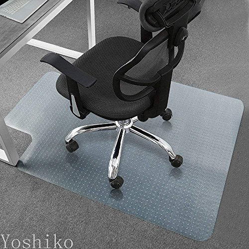 Heavy Duty Carpet Chair Mat Thick and Sturdy Transparent Chair mat for Low Pile Carpets Size 36'' X 48'' with Lip by YOSHIKO