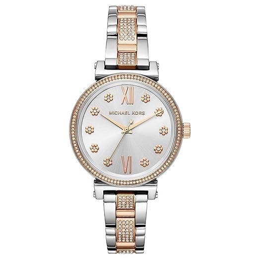 ccd6e65b7fa1 Michael Kors Ladies Mini Sofie Two Tone Bracelet Watch MK3880   Amazon.co.uk  Watches