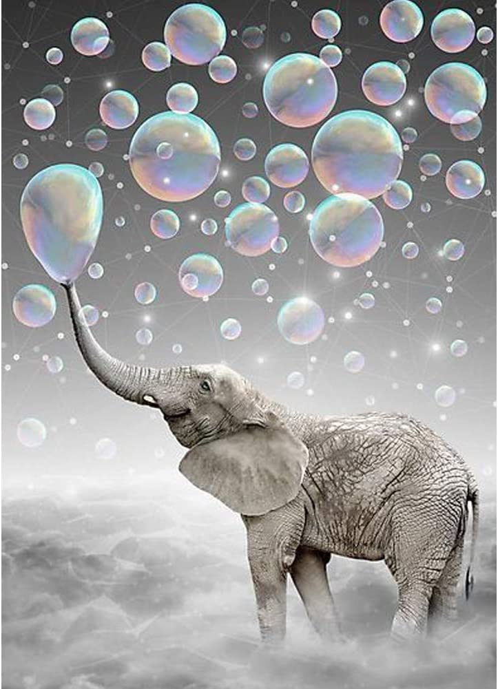 Diamond Painting Kits for Adults and Kids,Diamond Art Kits for Adults,DIY Painting with Diamonds Kits,Arts and Crafts for Adults,Perfect for Home Wall Decor,12X16inch(Elephant)