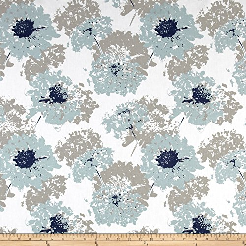 Premier Prints Fairy Spa Blue Fabric by The Yard ()
