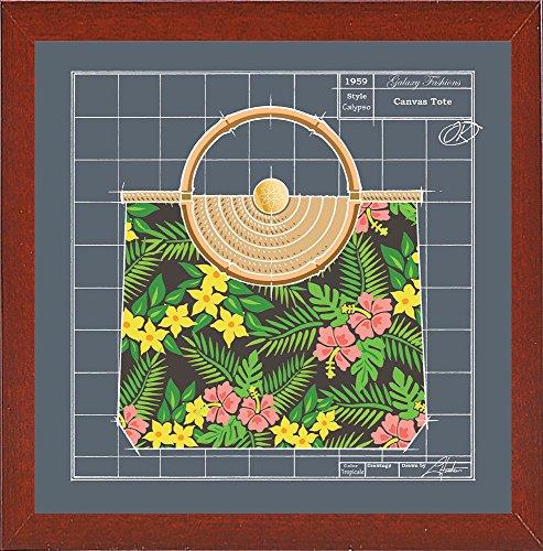 Frame USA Galaxy Fashions - Canvas Tote Tropicale Black-LARHUN129586 Print 16