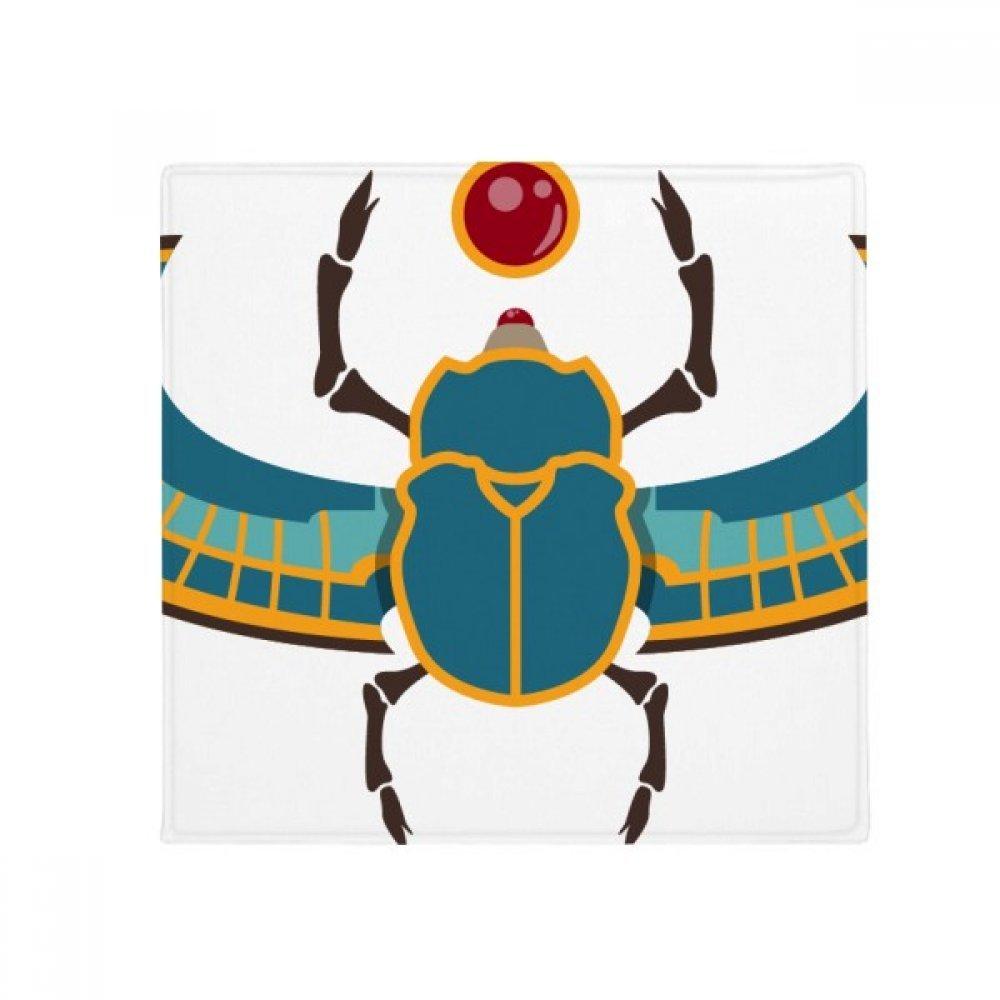 DIYthinker Egypt Red Yellow bluee Beetle Atonism Anti-Slip Floor Pet Mat Square Home Kitchen Door 80Cm Gift