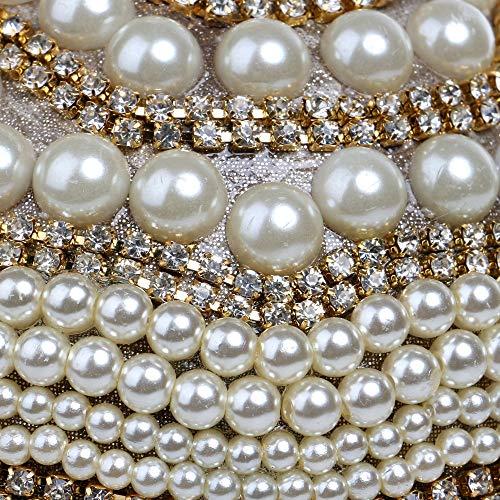 Noche Las Banquete Perla silver Moda Rhinestone Hombro Cadena Lujo Rrock Personalidad Borla Bolsa Mujeres Bolso De Gold Fiesta Bola 1RxtwBOSq