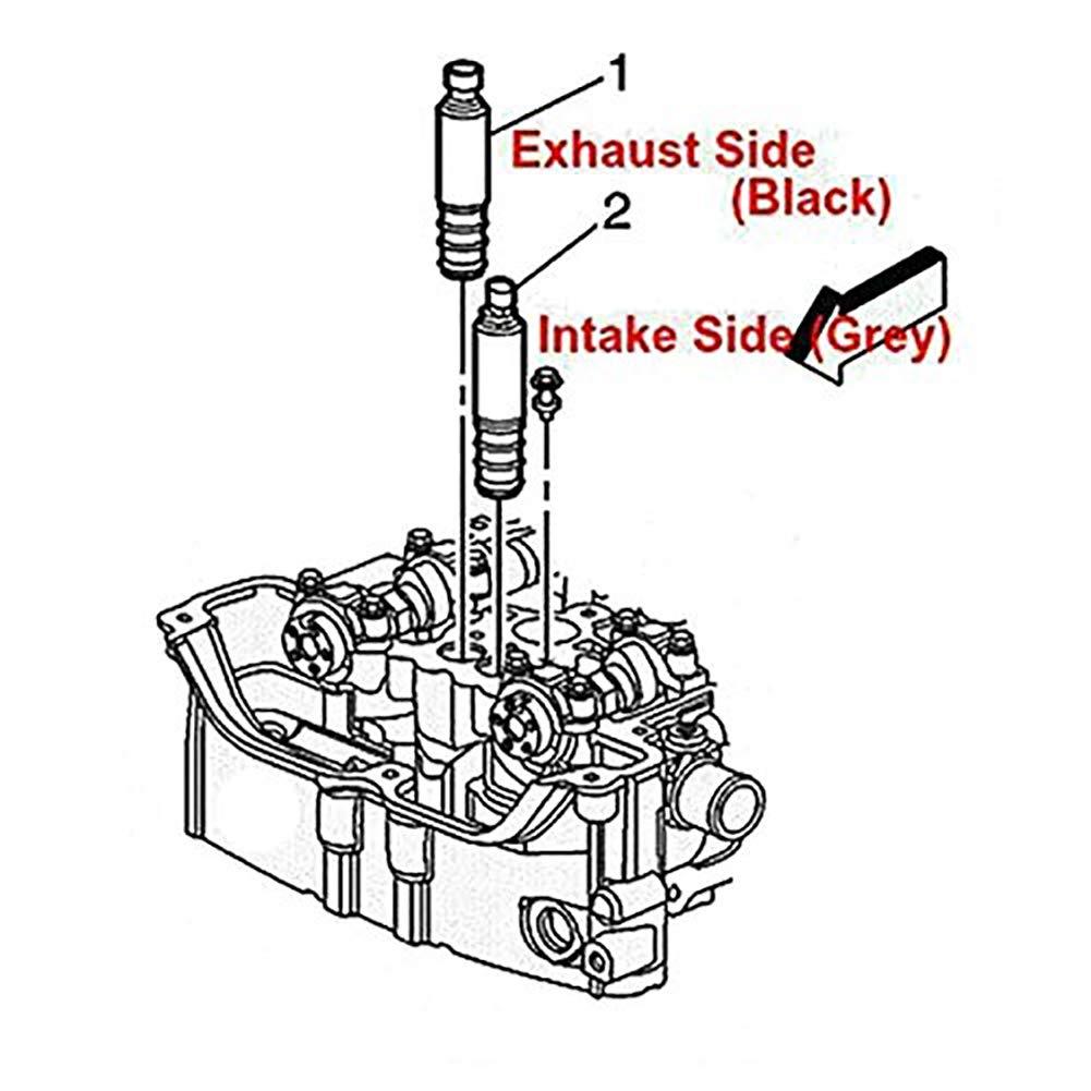 Pontiac G6 /& more GM Vehicles 2.0 2.2 2.4L Replaces Part 12655421 12655420 Malibu Equinox 2 PCS HHR GMC Terrain Intake Exhaust Camshaft Position Actuator Solenoid Control Valve for Chevy Cobalt