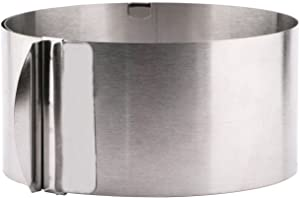 Stainless Steel Adjustable Cake Ring Molds , Useekoo Cake Mousse Mould Cake Baking 6 to 12 Inch Cake Decor Mold Ring