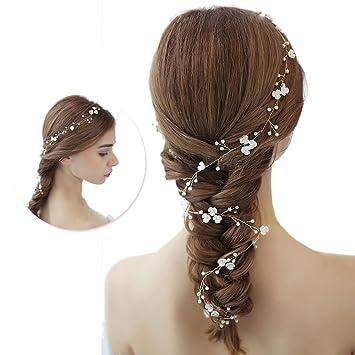 Haarhalter Fur Damen Und Madchen Braut Haarschmuck Perle Blume