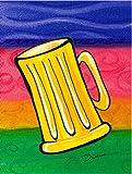 Caroline's Treasures LD6041CHF Beer Flag Canvas, Large, Multicolor