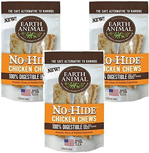 Earth Animal No-Hide Chicken Chew 7 Inches – 6 Total 3 Packs with 2 per pack