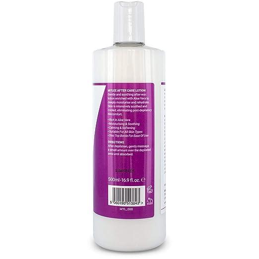 Mylee MYL008 - Crema Hidratante para Piel para Despues del Depilado, Relajante de Aloe Enriquecido, 500ml: Amazon.es: Belleza