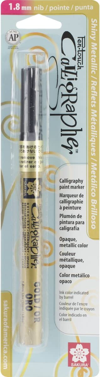 Pen-Touch Calligraphy Marker Fine Point 1.8mm-Gold Metallic