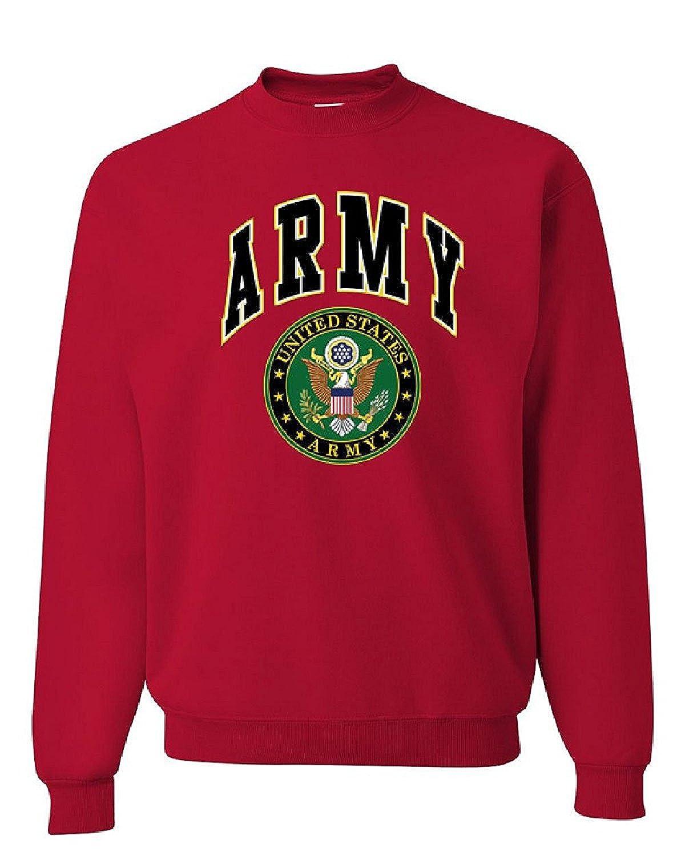 eb4dd5d63715 Amazon.com  UNITED STATES ARMY CREW NECK SWEATSHIRT ARMY LOGO CREST ...