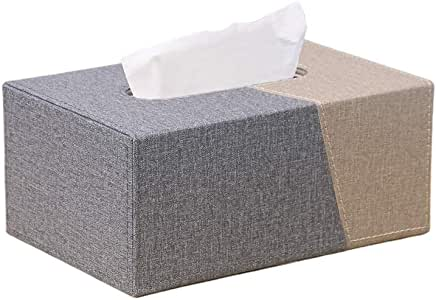 HUI JIN Caja de pañuelos de Dos Colores, Portable, Funda de Piel para pañuelos, para el hogar y la Oficina: Amazon.es: Hogar