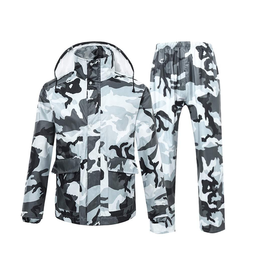 Regenanzüge Regenmantel für Männer - Regenbekleidung Wasserdichtes Motorrad Reiten Golf 2-Teiliger Anzug