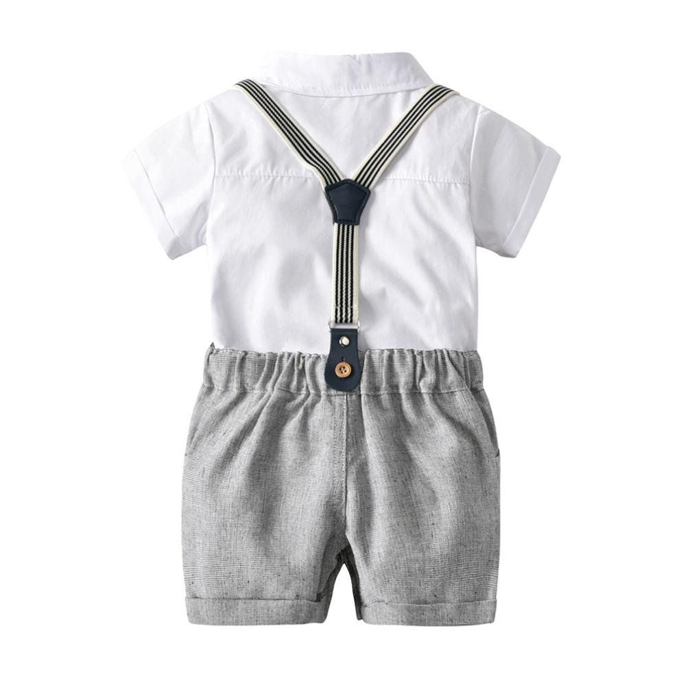 wuayi Toddler Infant Baby Boys Girls Romper Playsuit Clothes with I Love Mummy