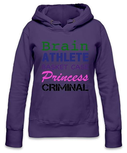 Brain Athlete Basket Case Slogan Womens Hoodie: Amazon.es: Ropa y accesorios