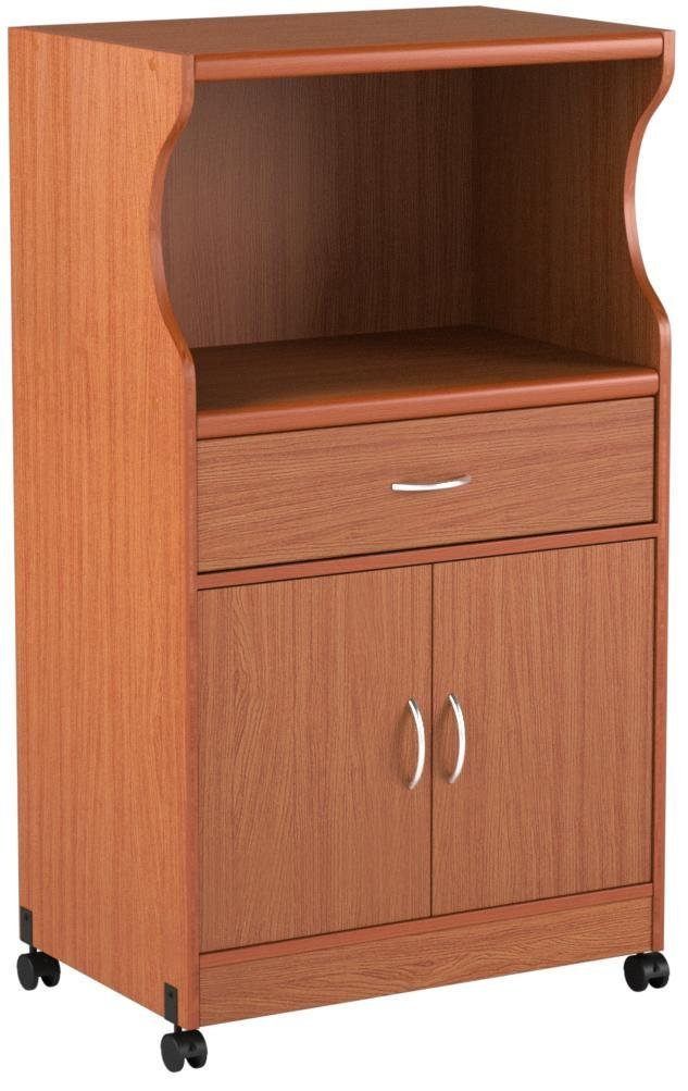 Hodedah Microwave Cart with One Drawer, Two Doors, and Shelf for Storage, Cherry by HODEDAH IMPORT (Image #8)