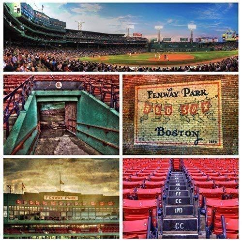 Fenway Park Photo Collage, Boston Red Sox Print, Fenway Park Canvas, Boston Sports Wall Decor ()